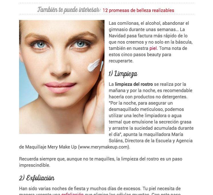 6 pasos beauty para recuperar tu piel de las fiestas