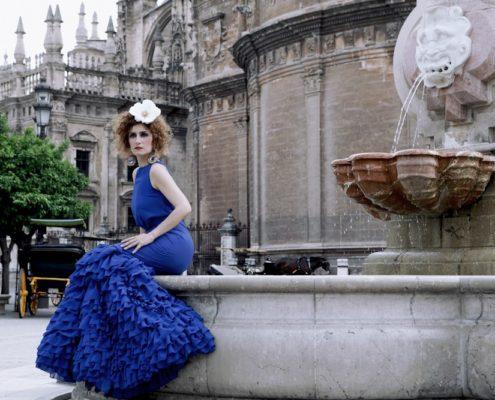 El Rocío y Patricia Pajares Bazarot azul