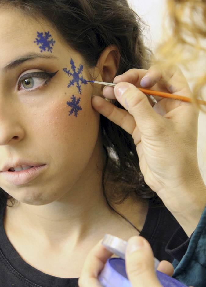 Maquillaje navidad fantasía paso seis