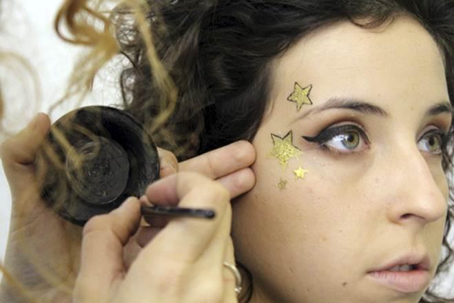 Maquillaje navidad fantasía paso siete