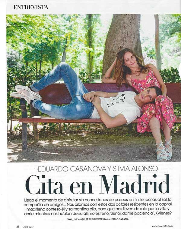 Eduardo Casanova y Silvia Alonso