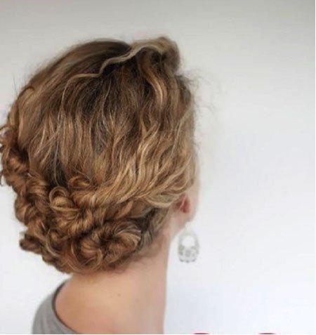 Peinados f ciles para pelo rizado mery makeup for Semirecogido rizado